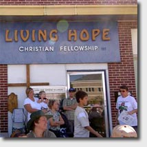 old living hope sign